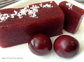 Gelatina agar-agar de cerezas.